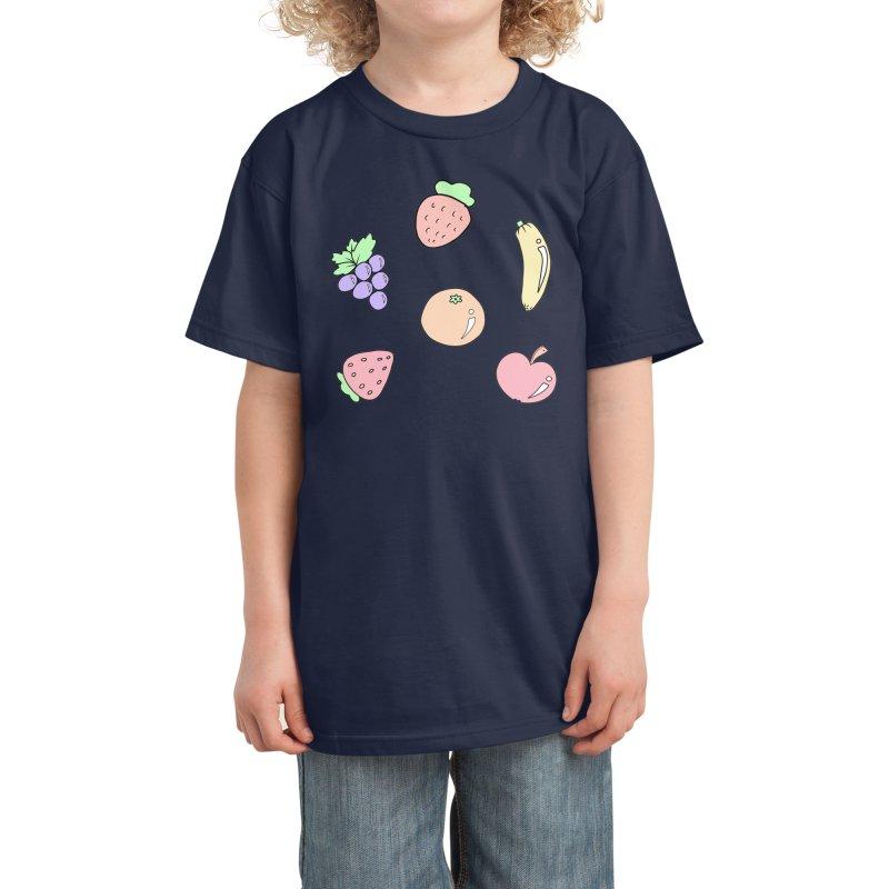 Fruits Kids T-Shirt by Aidadaism