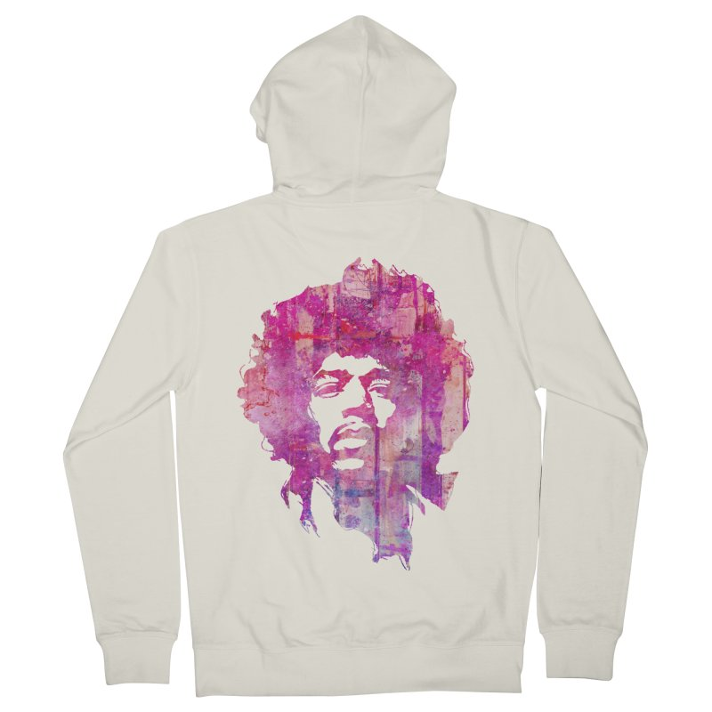 Grunge Hendrix All Gender Zip-Up Hoody by Ale Borges