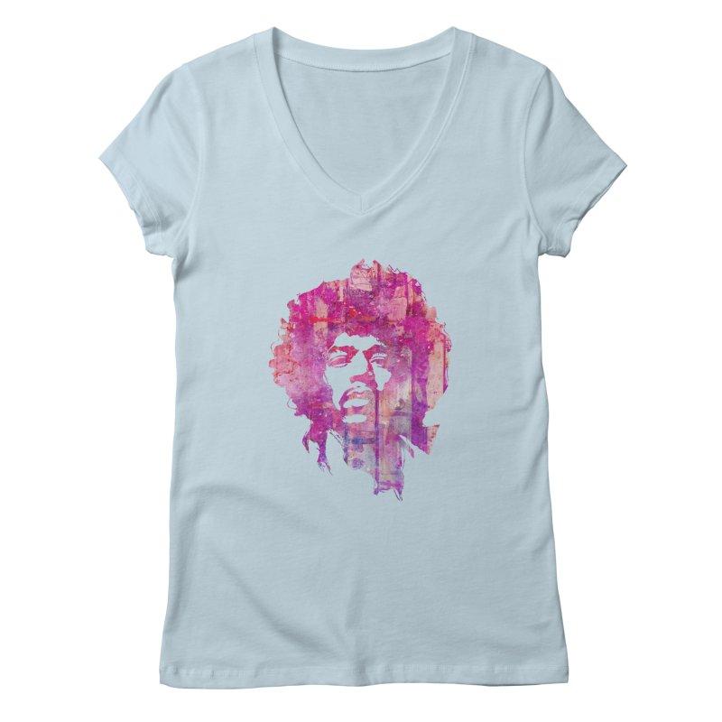 Grunge Hendrix Feminine V-Neck by Ale Borges