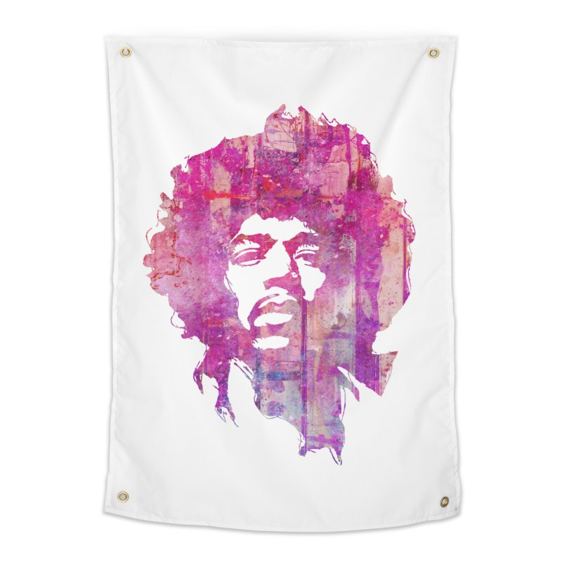 Grunge Hendrix Home Tapestry by Ale Borges