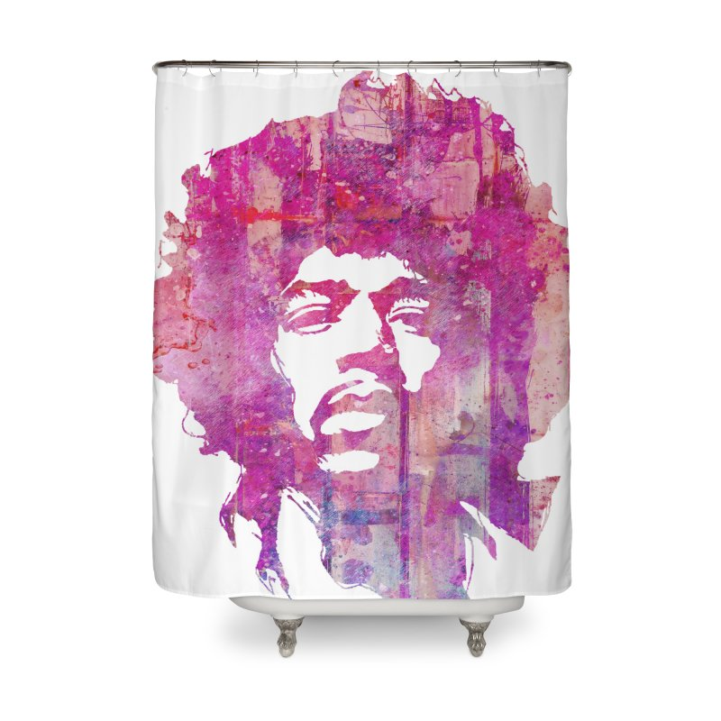Grunge Hendrix Home Shower Curtain by Ale Borges