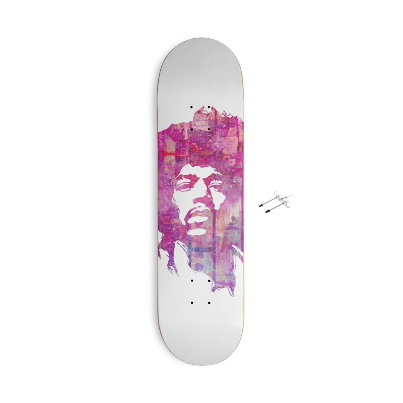 Grunge Hendrix Accessories Skateboard by Ale Borges