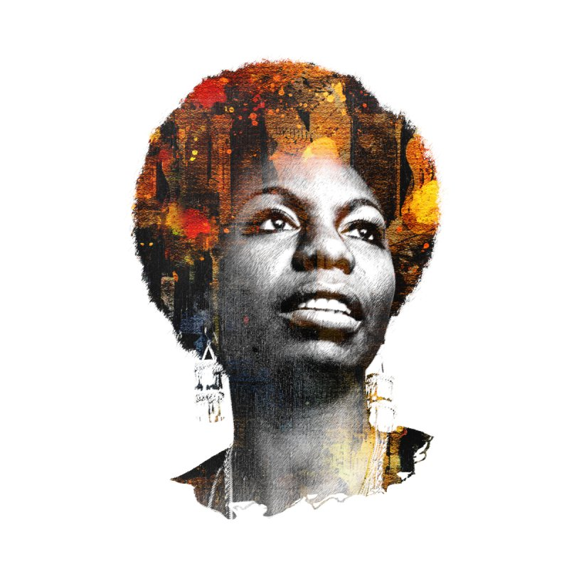 Black Queen Nina Simone Kids Toddler Longsleeve T-Shirt by Ale Borges