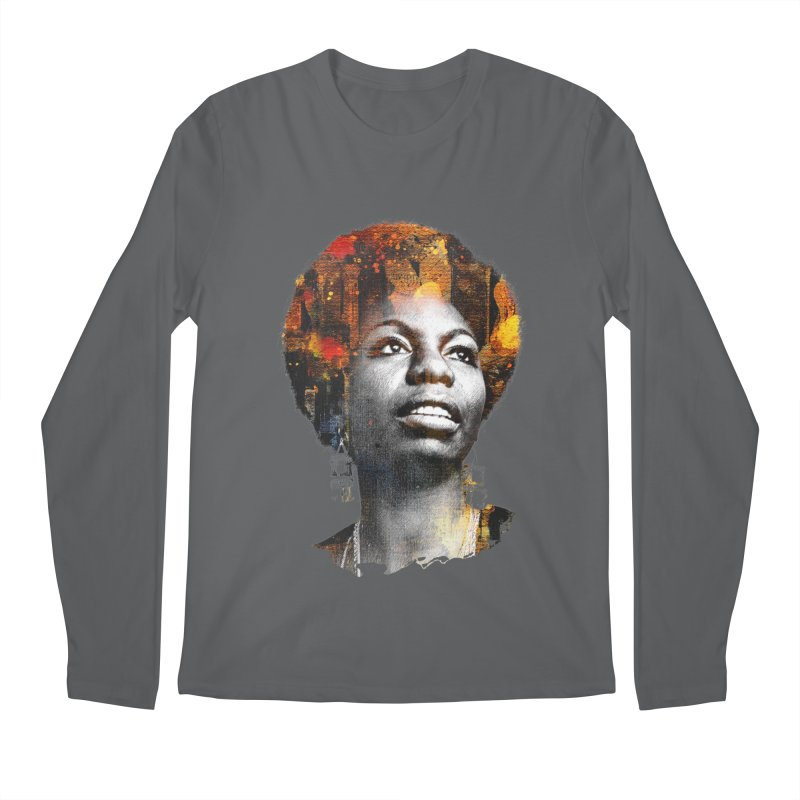 Black Queen Nina Simone All Gender Longsleeve T-Shirt by Ale Borges