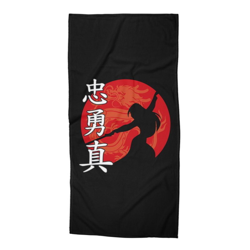 Chinese Warrior Accessories Beach Towel by Ale Borges