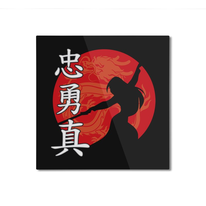 Chinese Warrior Home Mounted Aluminum Print by Ale Borges