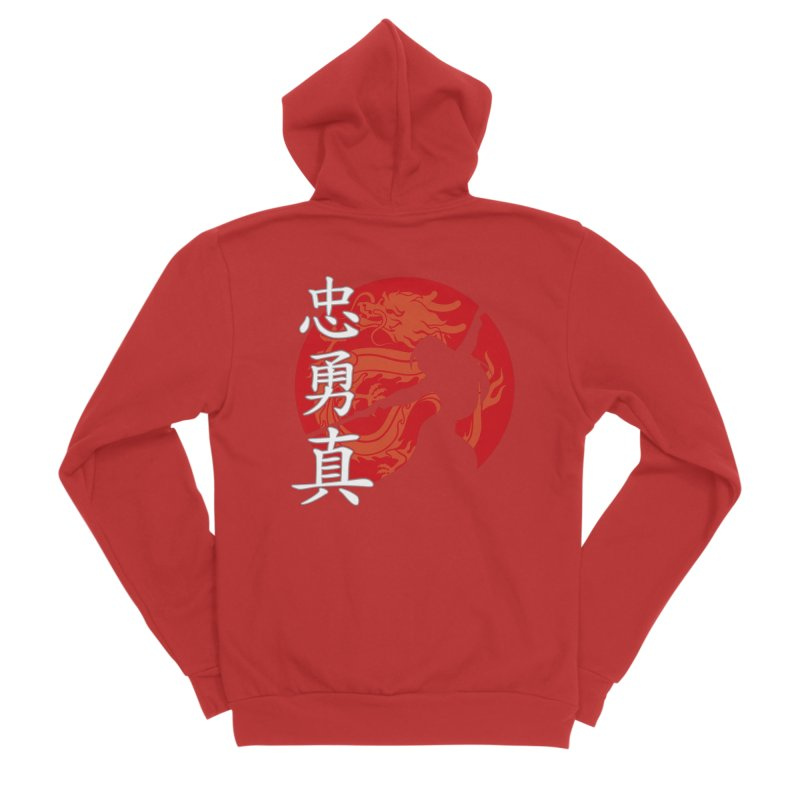 Chinese Warrior All Gender Zip-Up Hoody by Ale Borges
