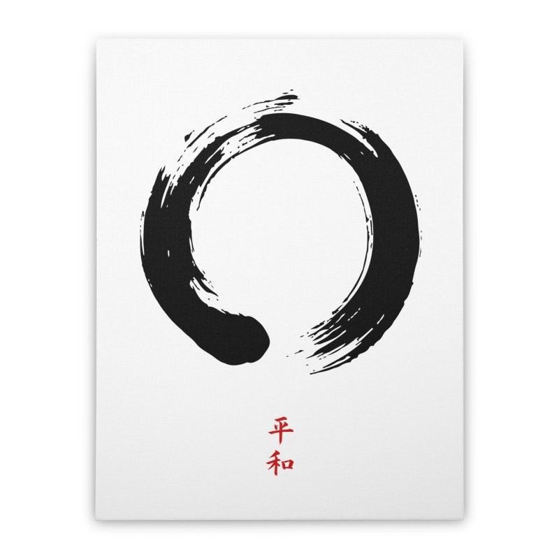 Zen Circle of Peace Home Stretched Canvas by Ale Borges