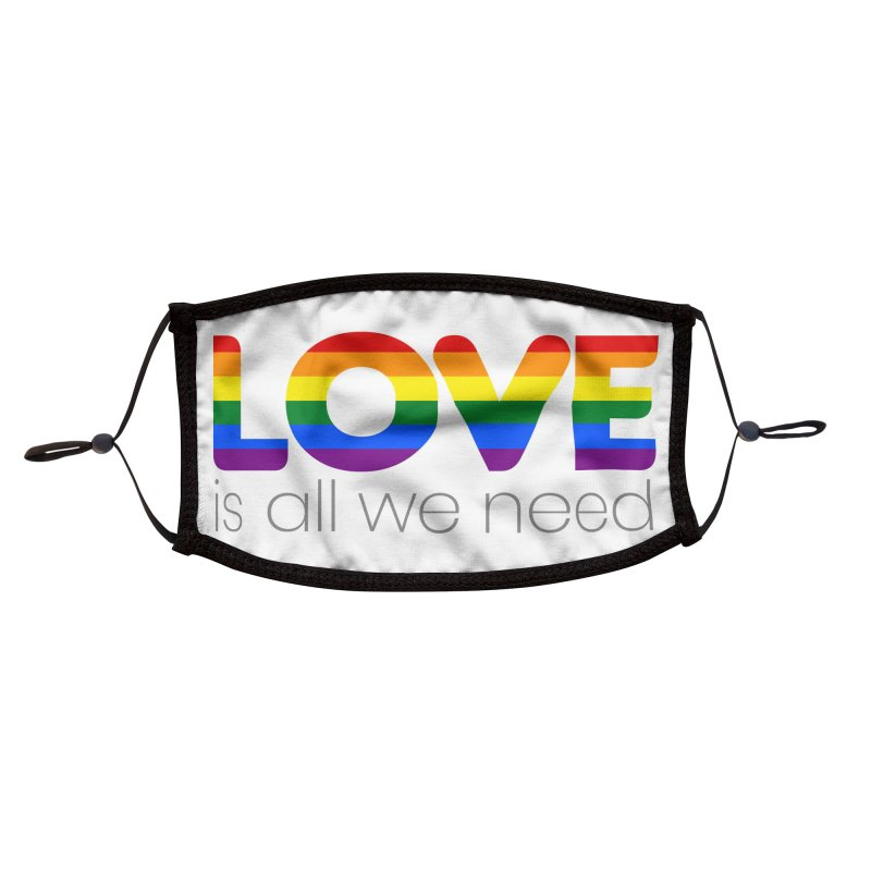 Free Love is All We Need Accessories Face Mask by Ale Borges