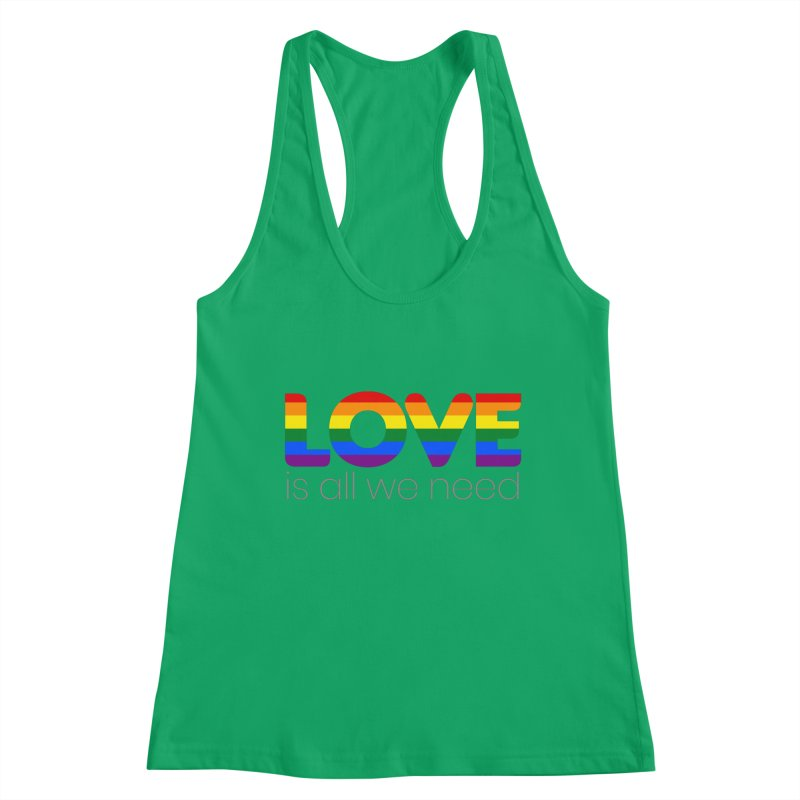Free Love is All We Need Feminine Tank by Ale Borges