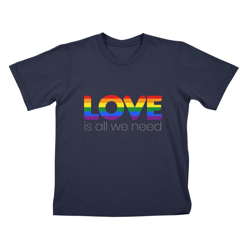Free Love is All We Need Kids T-Shirt by Ale Borges