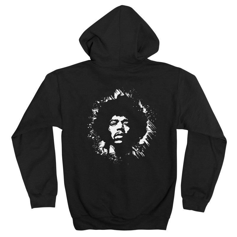 Grunge Hendrix II Feminine Zip-Up Hoody by Ale Borges