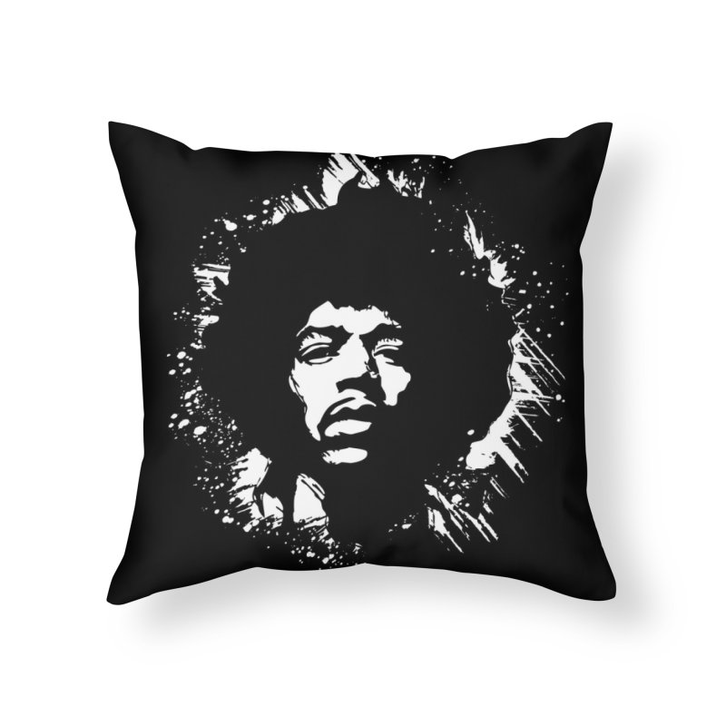 Grunge Hendrix II Home Throw Pillow by Ale Borges