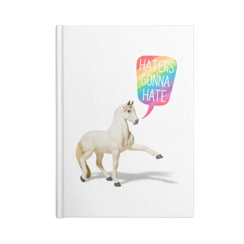 Horses Gonna Horse in Blank Journal Notebook by Aled's Artist Shop