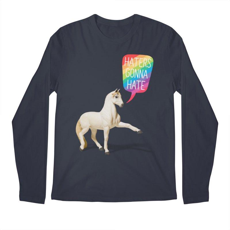 Horses Gonna Horse Men's Regular Longsleeve T-Shirt by Aled's Artist Shop