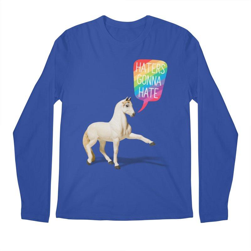 Horses Gonna Horse Men's Longsleeve T-Shirt by Aled's Artist Shop