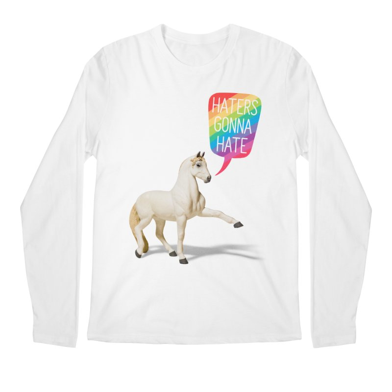 Horses Gonna Horse Men's Longsleeve T-Shirt by Aled's Artist Shop