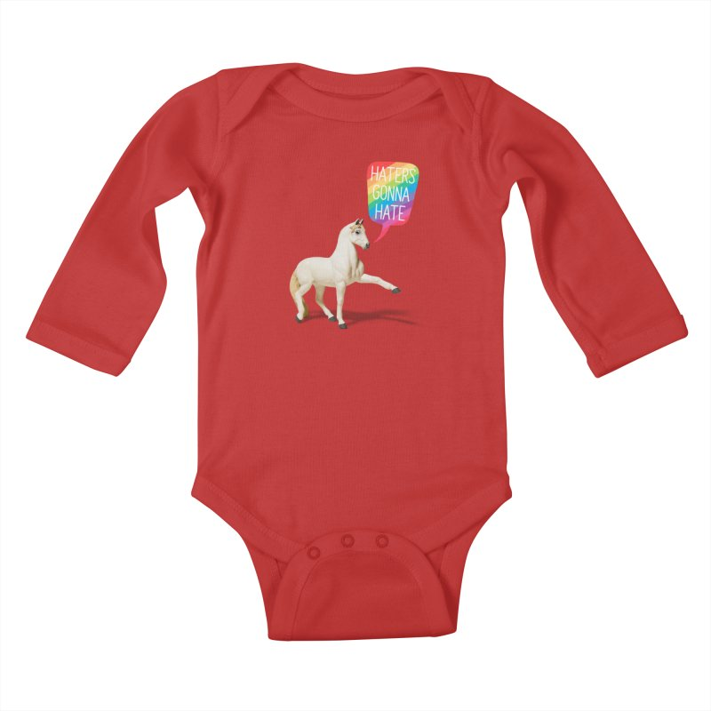 Horses Gonna Horse Kids Baby Longsleeve Bodysuit by Aled's Artist Shop