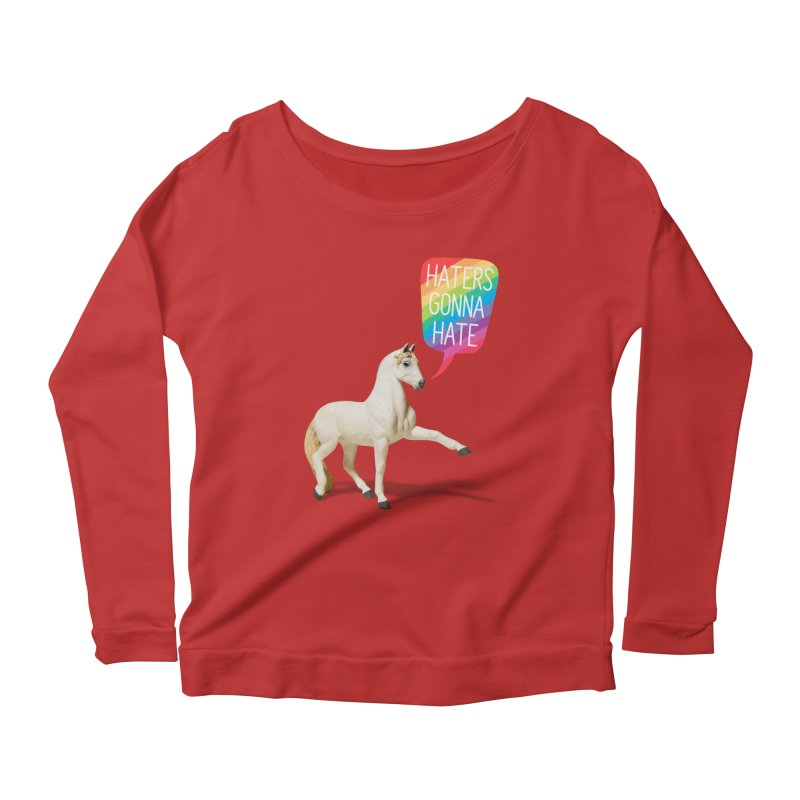 Horses Gonna Horse Women's Longsleeve Scoopneck  by Aled's Artist Shop