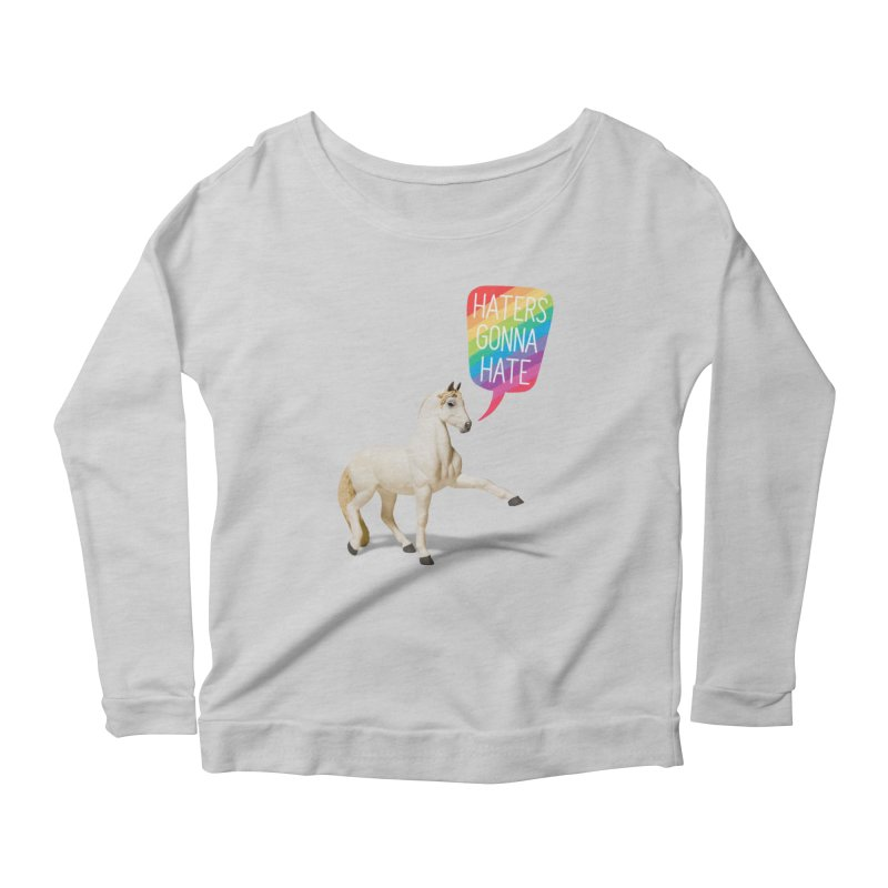 Horses Gonna Horse Women's Scoop Neck Longsleeve T-Shirt by Aled's Artist Shop