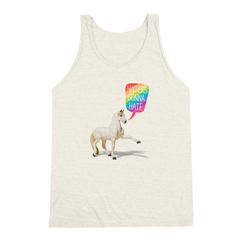 Horses Gonna Horse Men's Triblend Tank by Aled's Artist Shop