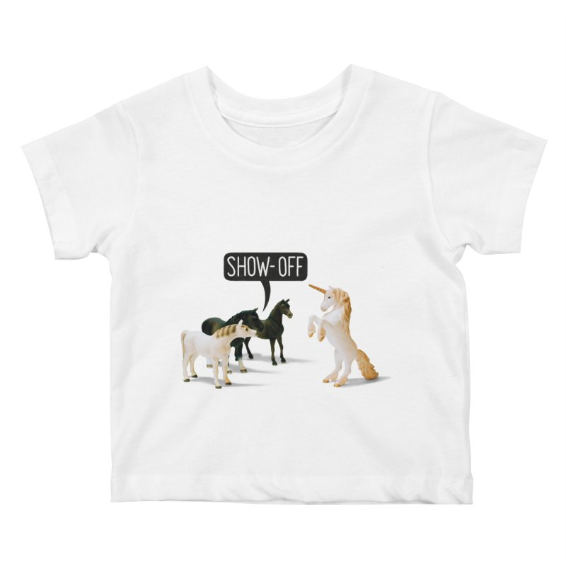 Show-Off Kids Baby T-Shirt by Aled's Artist Shop