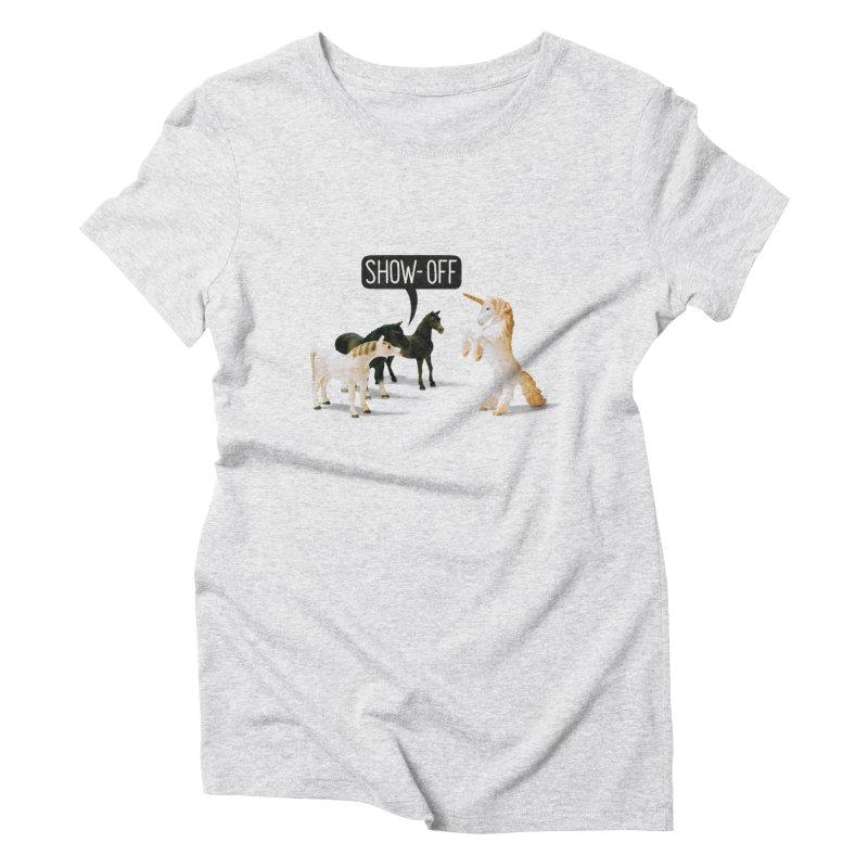 Show-Off Women's T-Shirt by Aled's Artist Shop