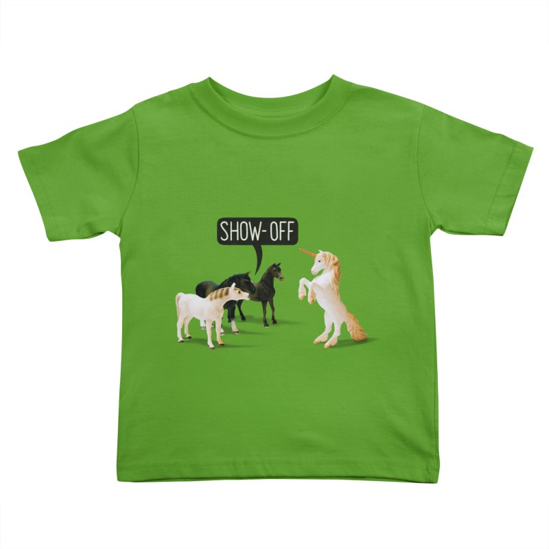 Show-Off Kids Toddler T-Shirt by Aled's Artist Shop