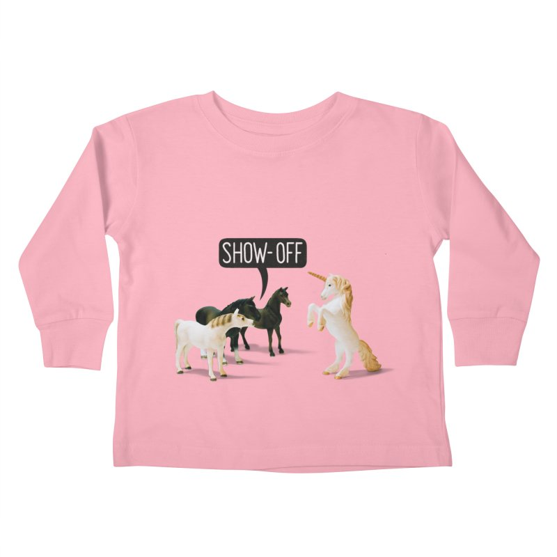 Show-Off Kids Toddler Longsleeve T-Shirt by Aled's Artist Shop