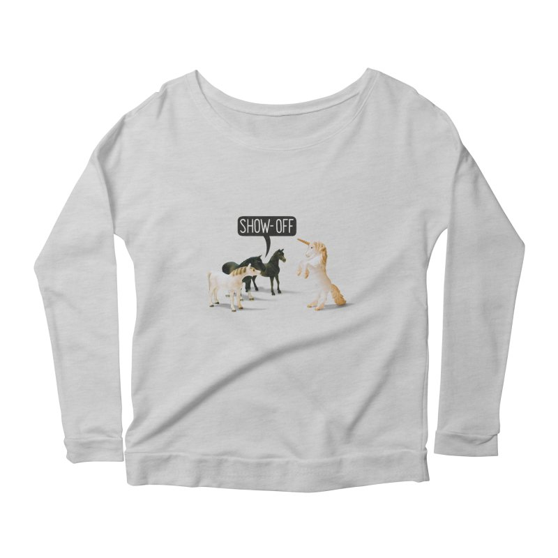 Show-Off Women's Scoop Neck Longsleeve T-Shirt by Aled's Artist Shop