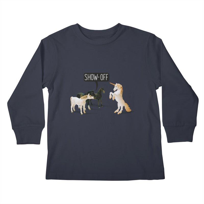 Show-Off Kids Longsleeve T-Shirt by Aled's Artist Shop