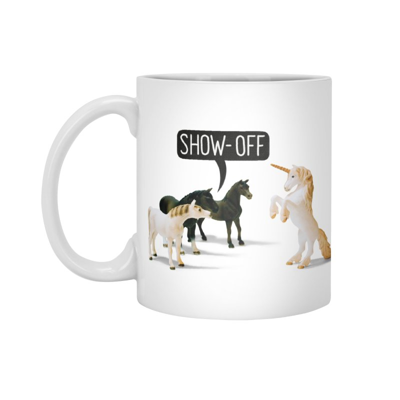 Show-Off in Standard Mug White by Aled's Artist Shop