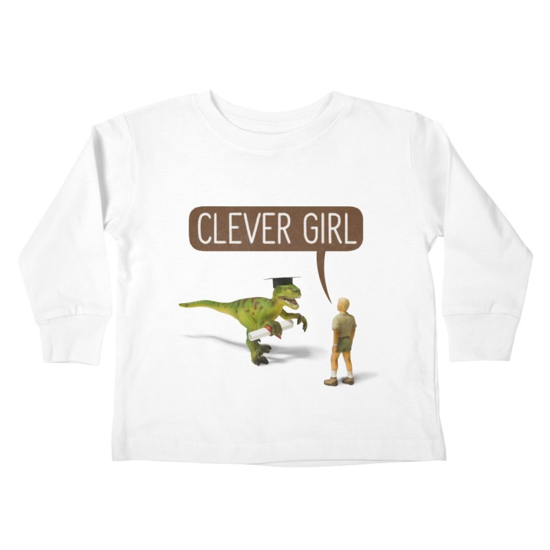 Philosoraptor Kids Toddler Longsleeve T-Shirt by Aled's Artist Shop