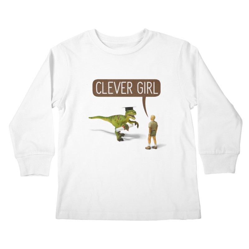 Philosoraptor Kids Longsleeve T-Shirt by Aled's Artist Shop