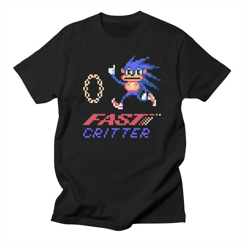 Fast Critter in Men's Regular T-Shirt Black by Aled's Artist Shop