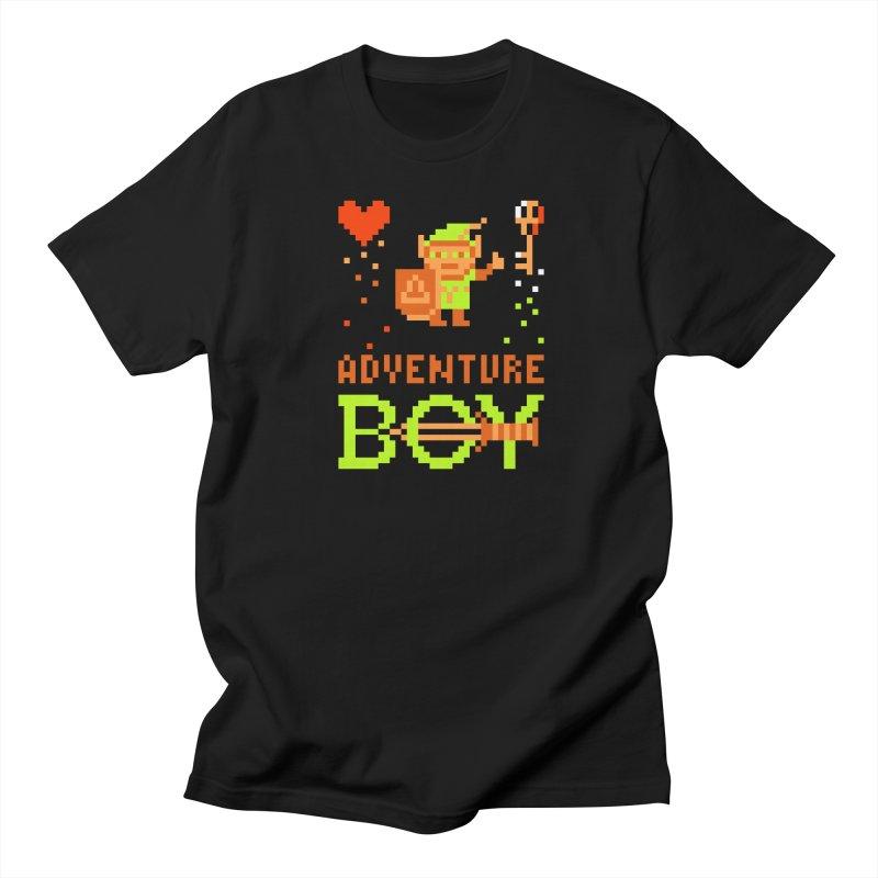 Adventure Boy in Men's Regular T-Shirt Black by Aled's Artist Shop