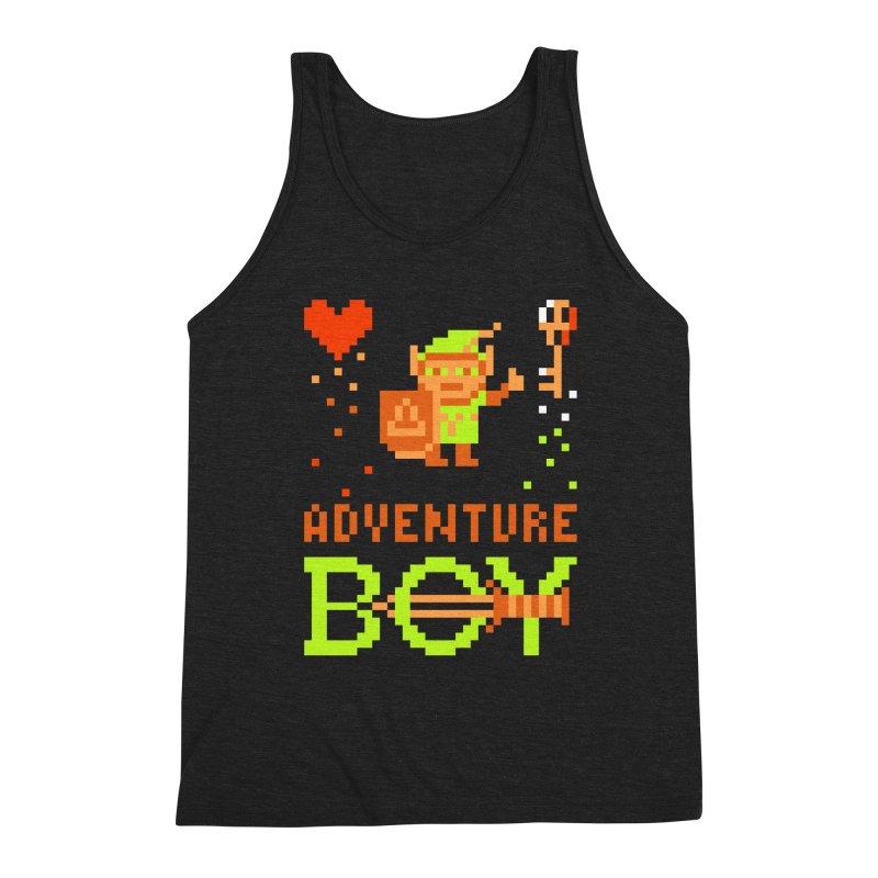 Adventure Boy Men's Triblend Tank by Aled's Artist Shop