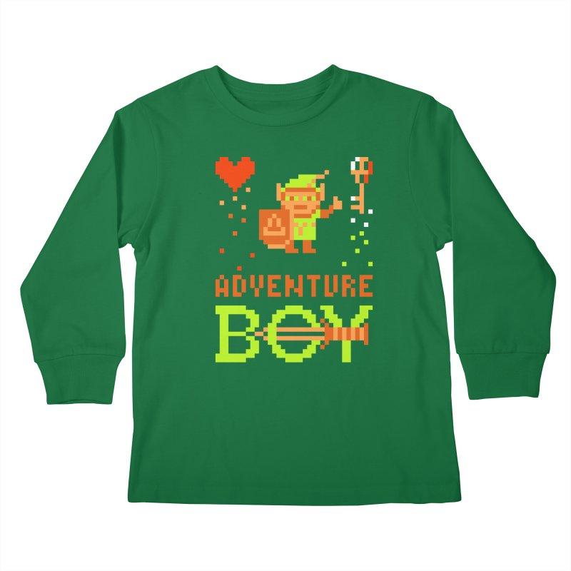 Adventure Boy Kids Longsleeve T-Shirt by Aled's Artist Shop