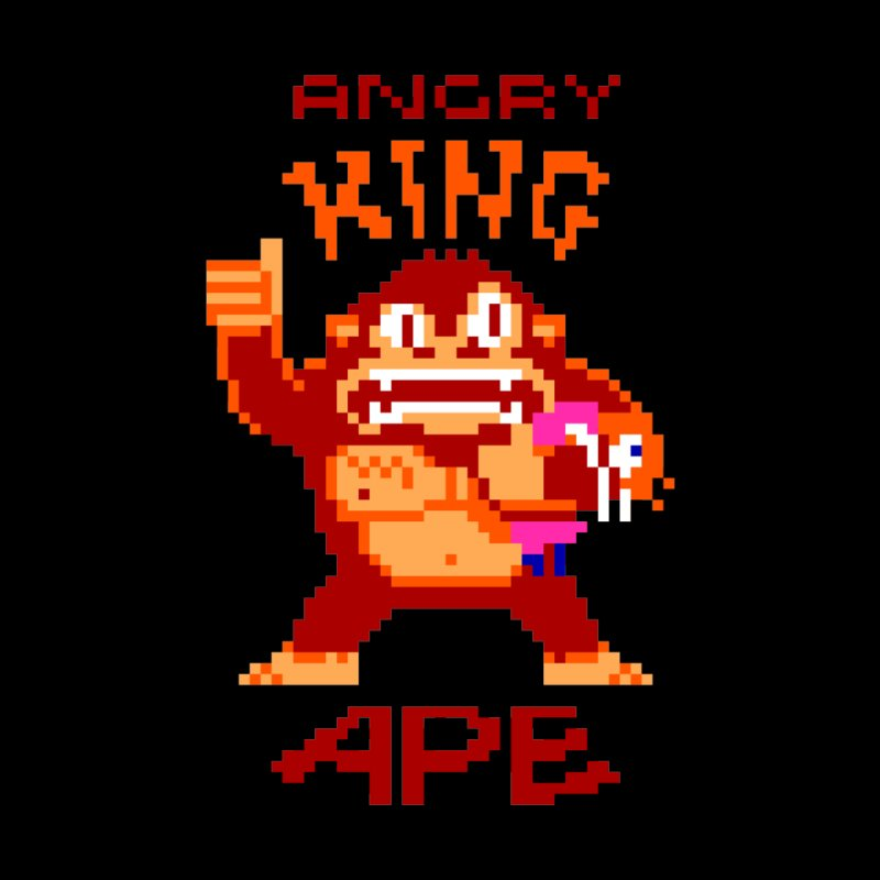 Angry King Ape Men's Triblend T-Shirt by Aled's Artist Shop