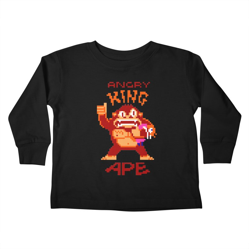 Angry King Ape Kids Toddler Longsleeve T-Shirt by Aled's Artist Shop