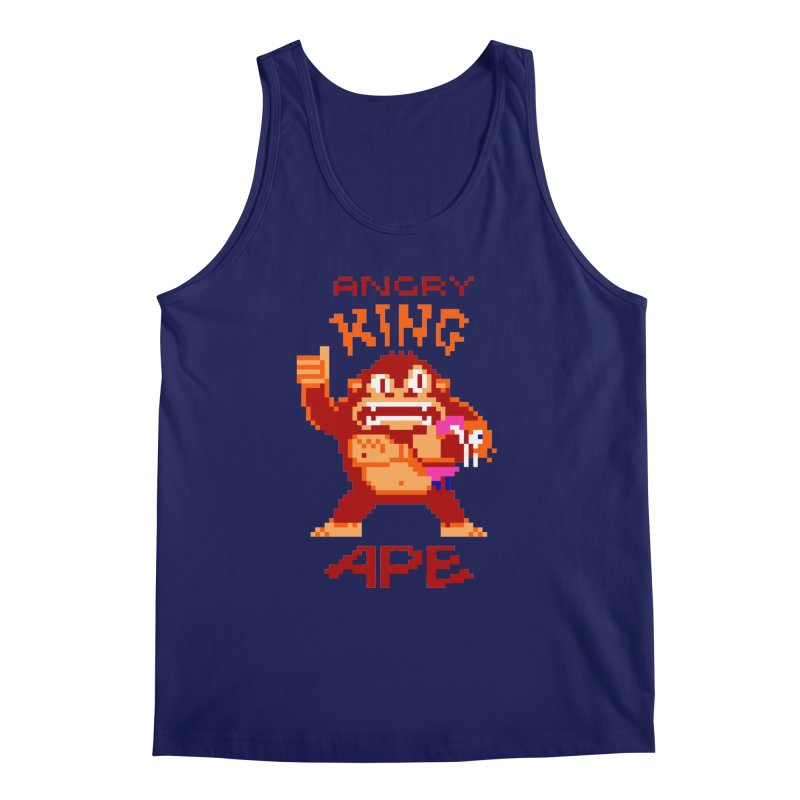 Angry King Ape Men's Regular Tank by Aled's Artist Shop
