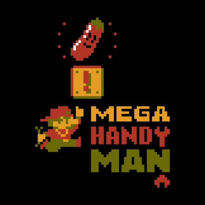 Mega Handy-Man Men's T-Shirt by Aled's Artist Shop