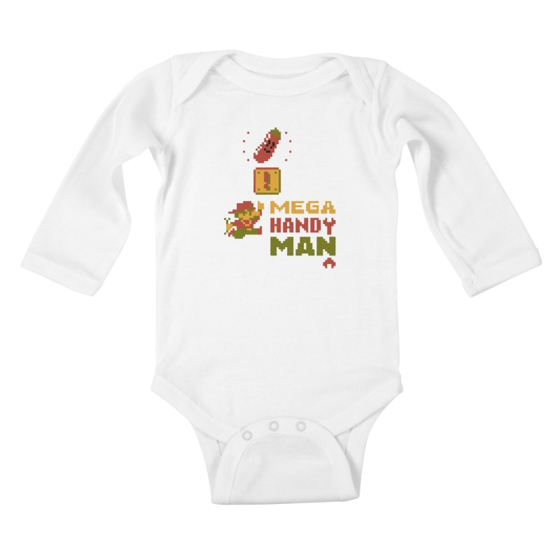 Mega Handy-Man Kids Baby Longsleeve Bodysuit by Aled's Artist Shop