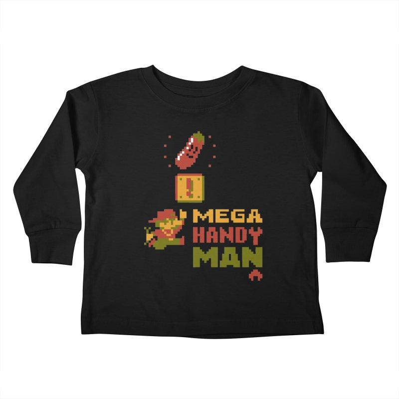 Mega Handy-Man Kids Toddler Longsleeve T-Shirt by Aled's Artist Shop