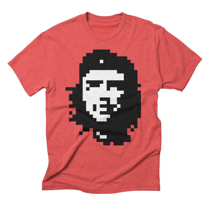 Rebel in Men's Triblend T-Shirt Chili Red by Aled's Artist Shop