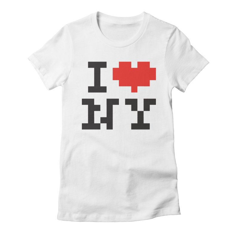 Heart in Women's Fitted T-Shirt White by Aled's Artist Shop