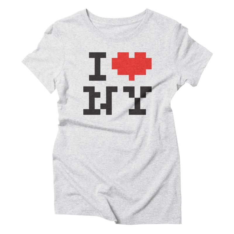 Heart in Women's Triblend T-Shirt Heather White by Aled's Artist Shop