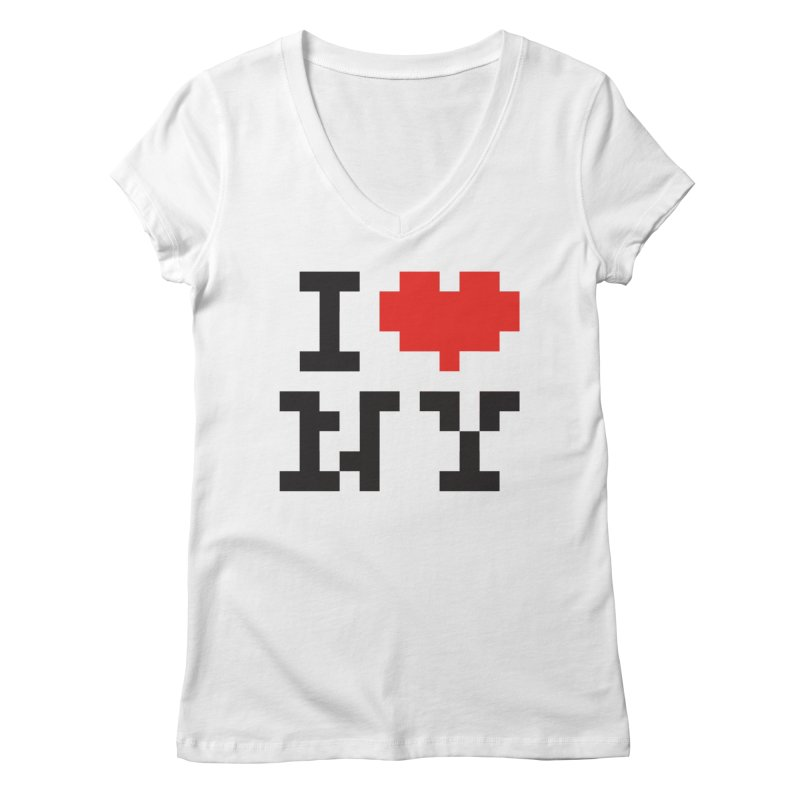 Heart Women's V-Neck by Aled's Artist Shop