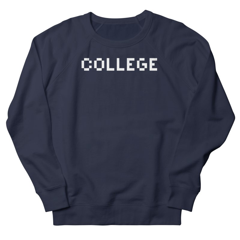 College in Men's French Terry Sweatshirt Navy by Aled's Artist Shop