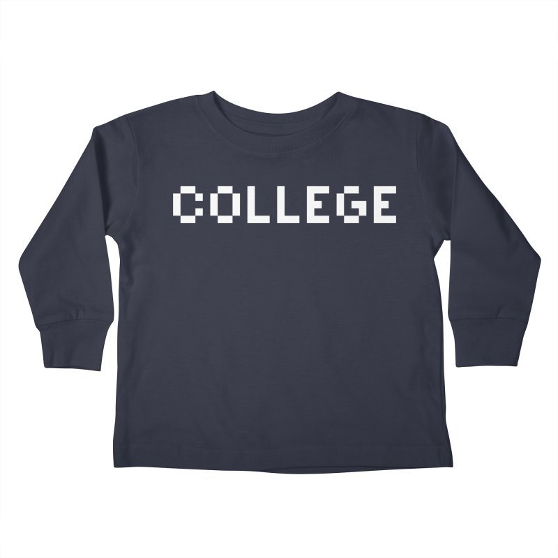 College Kids Toddler Longsleeve T-Shirt by Aled's Artist Shop